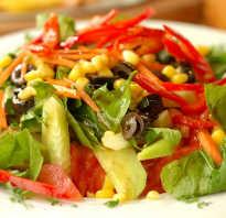 Низкокалорийный салат рецепт