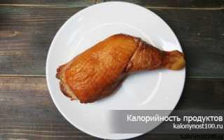 Грудка куриная копченая калорийность на 100