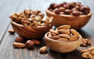 Орехи витамины таблица