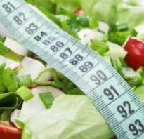 Расчет коридора калорийности