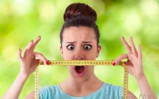 Правильно подобранная диета поможет вернуть нормальный вес