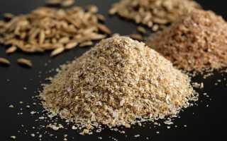 Отруби пшеничные состав таблица