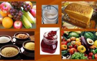 Продукты богатые углеводами и белками
