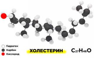 Структурная формула холестерина