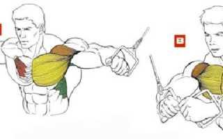Упражнения на грудь в кроссовере