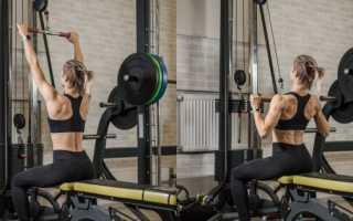 Широкая спина упражнения