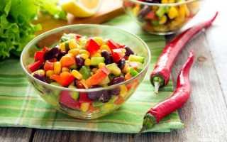 Легкий салат с авокадо рецепт