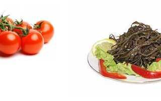 Салат витаминный из морской капусты калорийность
