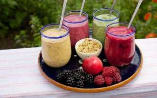 Полезные смузи в блендере рецепты для похудения