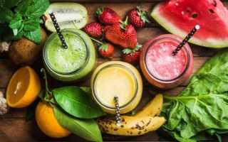 Овощные коктейли для похудения в блендере рецепты
